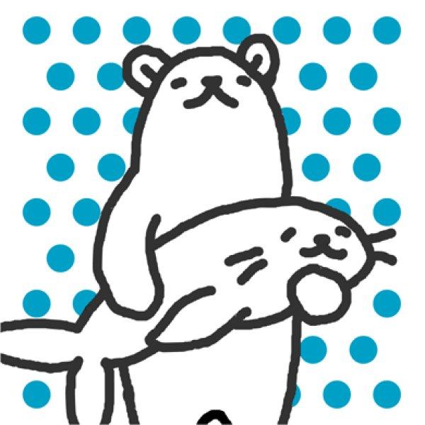画像1: アザラシを捕獲したシロクマ Tシャツ  (1)