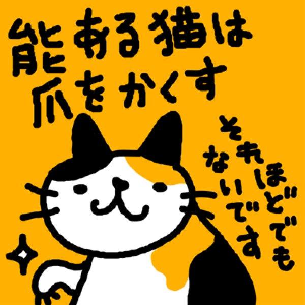 画像1: 能ある猫は爪をかくす Tシャツ (1)