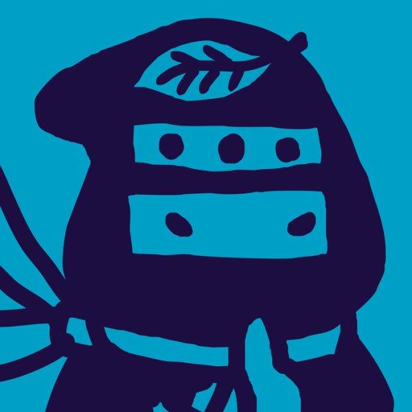 画像1: 忍者とネコ Tシャツ  (1)